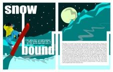 2-page magazine spread (School Project)