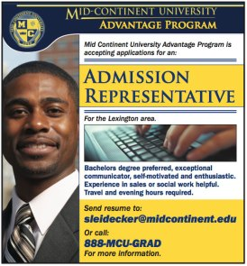 Mid-Continent University Recruitment Advertisement