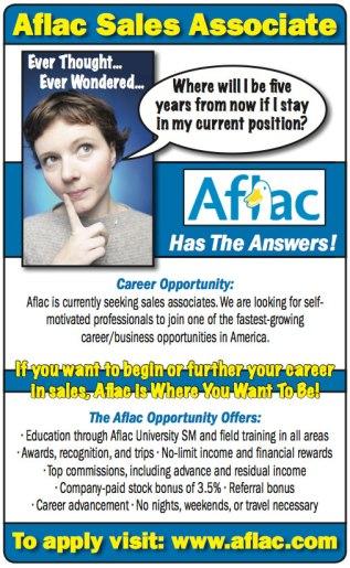 Aflac Recruitment Advertisement