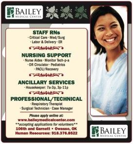 Bailey Medical Center Recruitment Advertisement