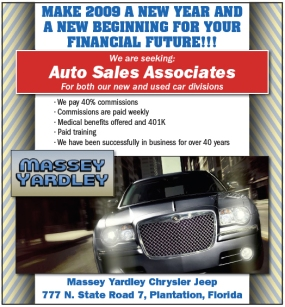 Massey Yardley Recruitment Advertisement