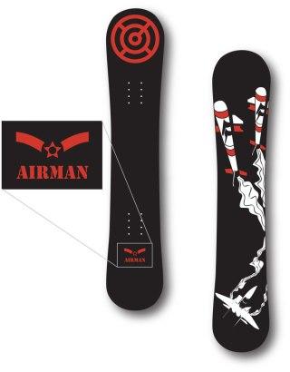 AWOL Snowboards - Airman Design