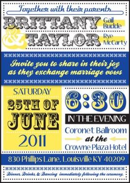 Brittany & Taylor Wedding - Invite