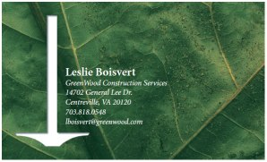 GreenWood Construction Services Business Card Comp