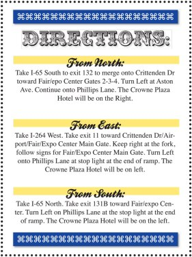 Brittany & Taylor Wedding - Directions