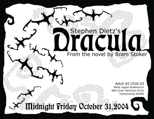 Dracula - Theater Production Flyer