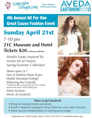 Aveda Earth Month 2013 Save the Date Flyer
