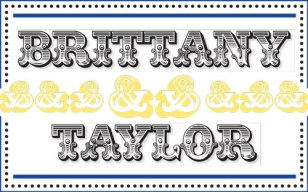 Brittany & Taylor Wedding - Name Card