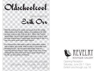 Oldschoolcool Gallery Show Promotional Postcard-Back